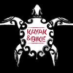 Kayak y Bike logo de una tortuga tribal